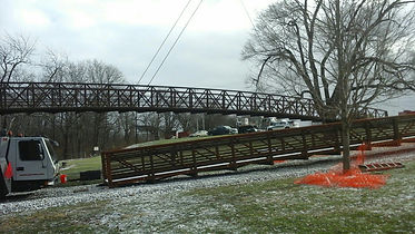 Pedestrian Bridge Installation