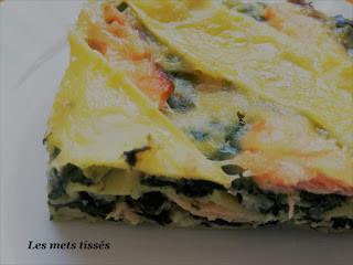 Lasagnes au saumon et légumes verts