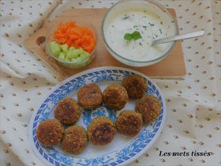 falafels traditionnels par Les Mets Tissés