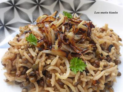 riz au lentilles par Les Mets Tissés