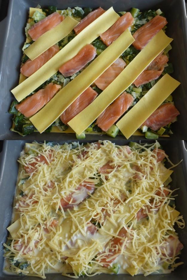 montage lasagnes par Les Mets Tissés