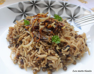 Riz aux lentilles et oignons caramélisés (mujaddara libanais)