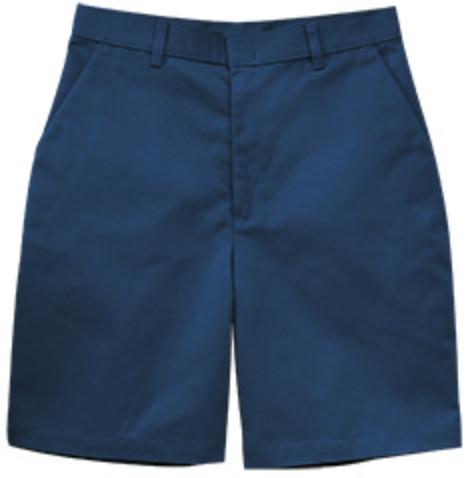 Navy Pleated Shorts (Husky)