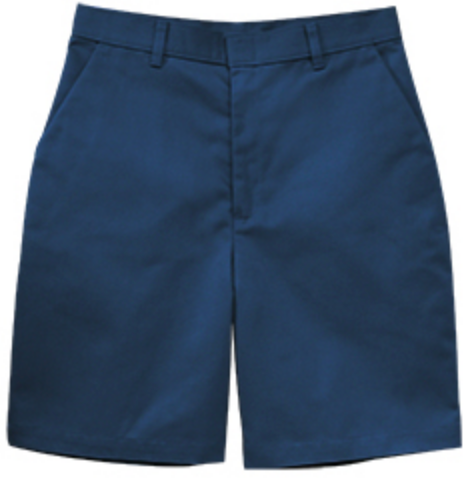 Navy Flat Front Shorts