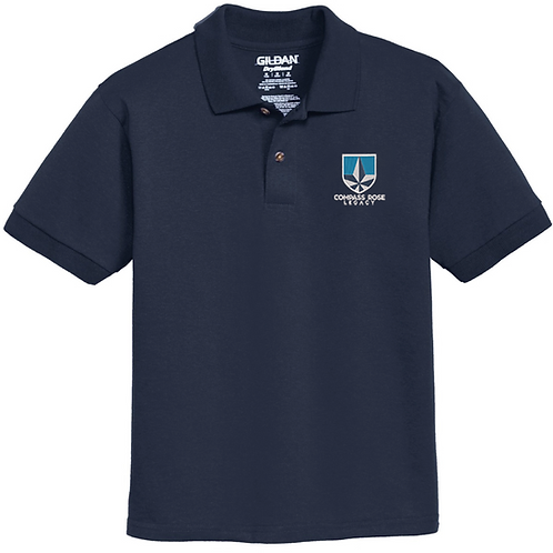 Navy Compass Rose Legacy Polo