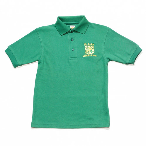Green Pique Polo (St. Luke)