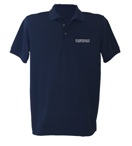 Navy Dry-Fit Polo (9th-12th) (St. JPll)