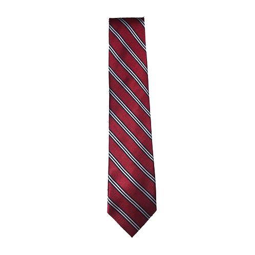 Boys' Red/White Striped Tie