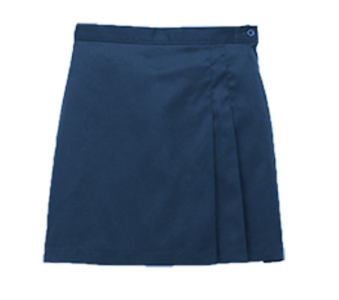 Becky Thatcher Youth Navy Pleated Skirt