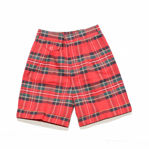 Plaid Shorts with Cuff
