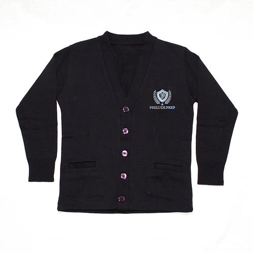 Navy Cardigan Sweater (Prelude Prep)