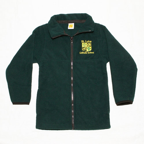 Green Fleece Zip-Up Jacket (St. Luke)