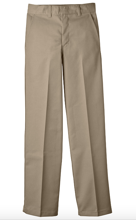Khaki Flat-Front Pants (Regular)