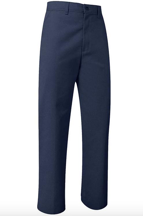 Navy Flat Front Pants