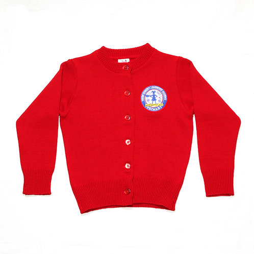 Red Cardigan Sweater (YWLA Primary)