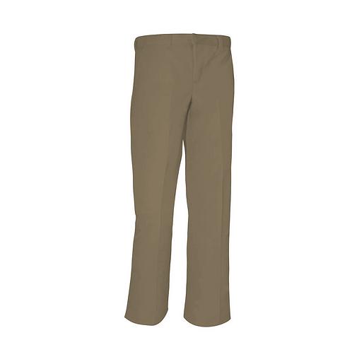 Flat-Front Khaki Pants