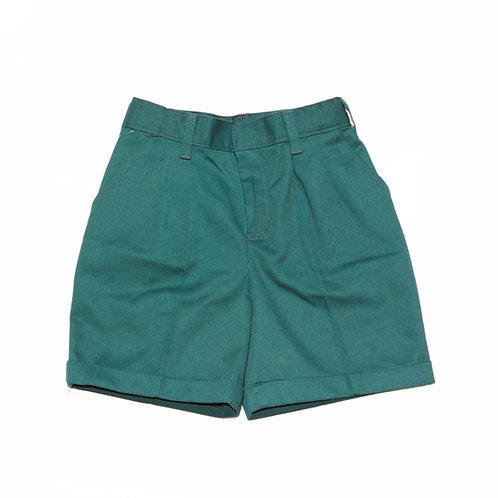 Green Pleated Shorts