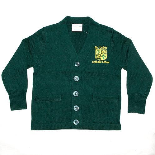Green Cardigan Sweater (St. Luke)