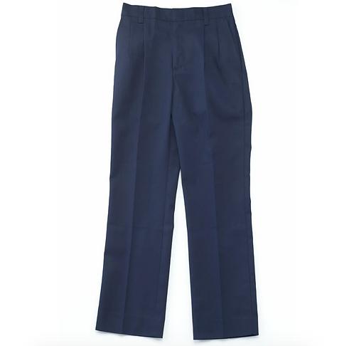 Navy Pleated Pants (Husky)
