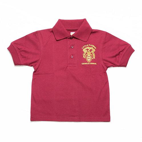 Maroon Polo Shirt (Little Flower)