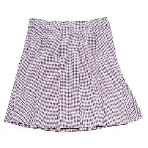 Navy Houndstooth Skirt