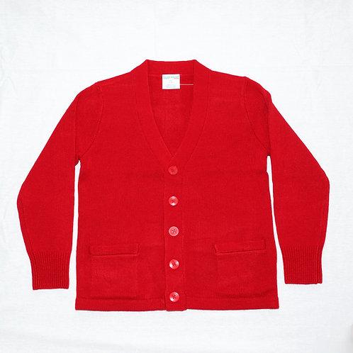 Red Cardigan Sweater (No Logo)