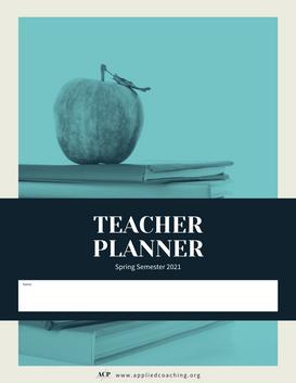 Spring Semester 2021 Teacher Planner