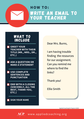 How to: Write an email to your teacher - poster
