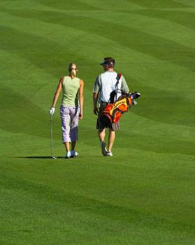 Golfing Couple