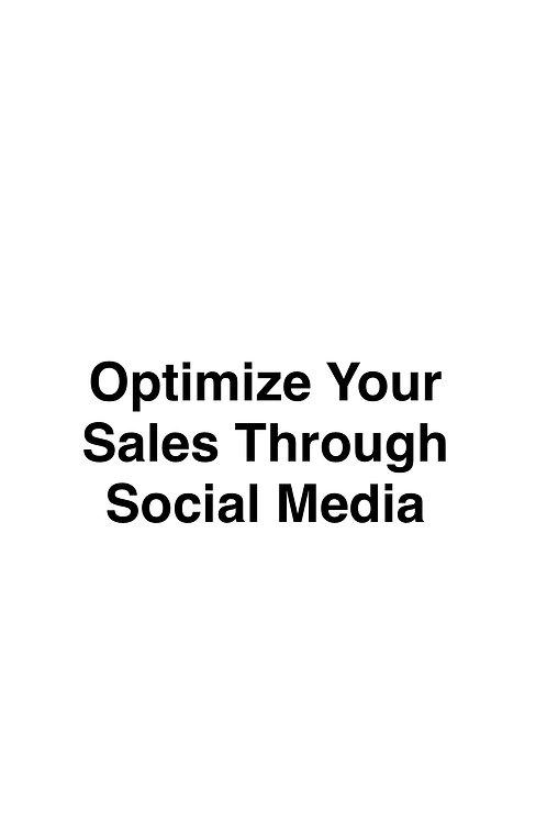 Optimize Your Sales Through Social Media