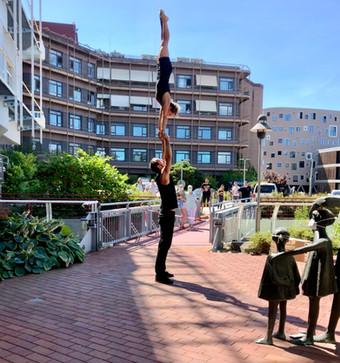 Akrobatik an der Kinderklinik