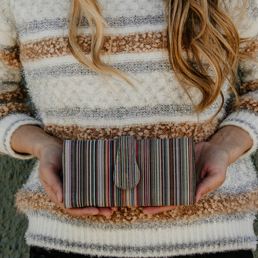 Cofi Striped Wallet $92