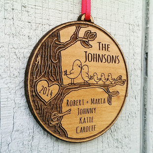 Customize an ornament as a personal family gift!