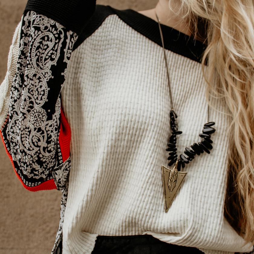 Josie Patterned Ivory Sweater