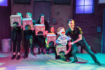 Box in Avenue Q with Blank Canvas Theatr
