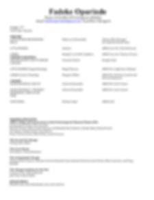 Fadeke Oprinde Resume
