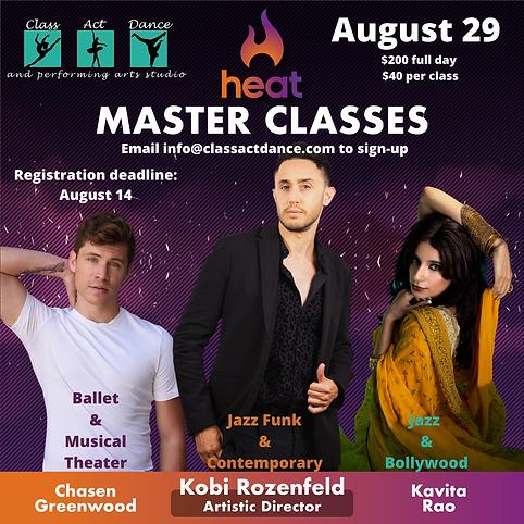 Heat Master Classes - Class Act Dance