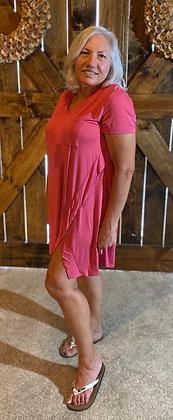 Renee Tee Shirt Dress Carnation Pink