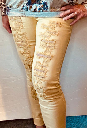 Fawn Distressed Jeggings