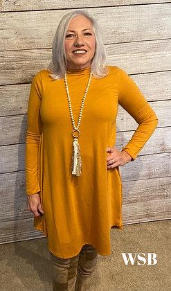 Grace Dress Mustard Yellow
