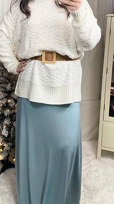 Tina Relaxed Fit Maxi Skirt, Fog Grey Blue