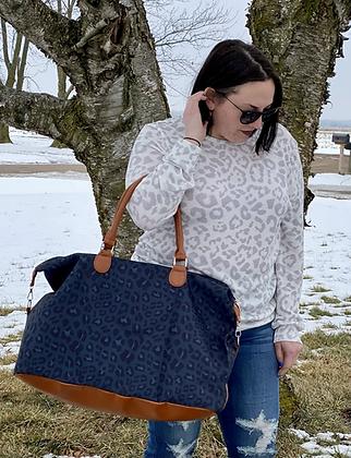 Wild Weekend Leopard Weekender Bag