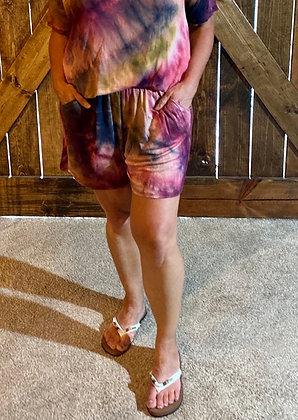 Purple Passion Tie Dye Shorts