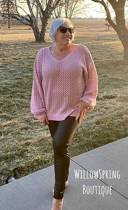 Sunshine and Grace Pink Sweater