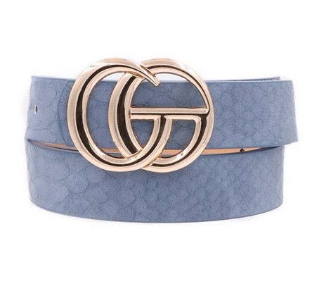 CG Crocodile Belt Blue
