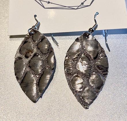 Silver Snake Earrings Small