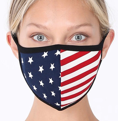 American Flag Washable Cotton Face Mask