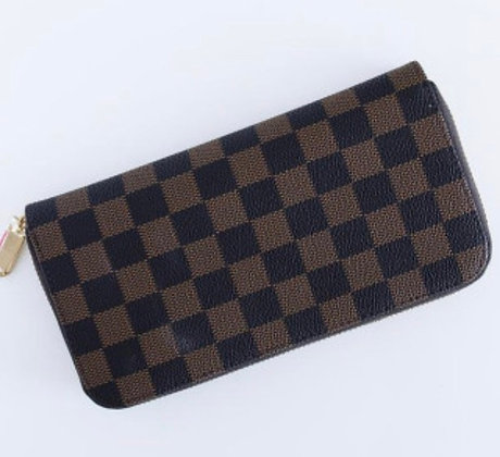 Cole Wallet Brown Check