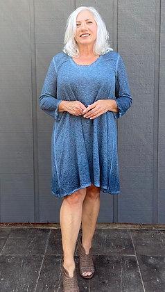 Sarah Mineral Wash Dress Stormy Blue