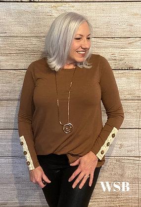 Kate Long Sleeve Top Cocoa